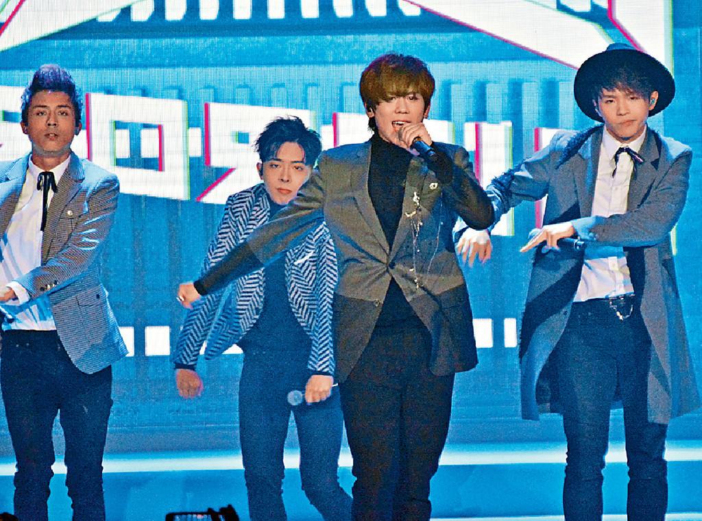 ■姜濤等MIRROR成員載歌載舞為ViuTV造勢。
