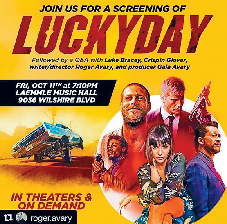 ■《Lucky Day》今日在外國上映。