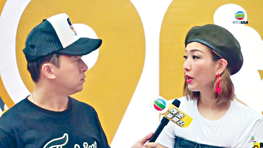 工作遇見 ■子博任娛樂新聞主播時曾訪問過鄭秀文。