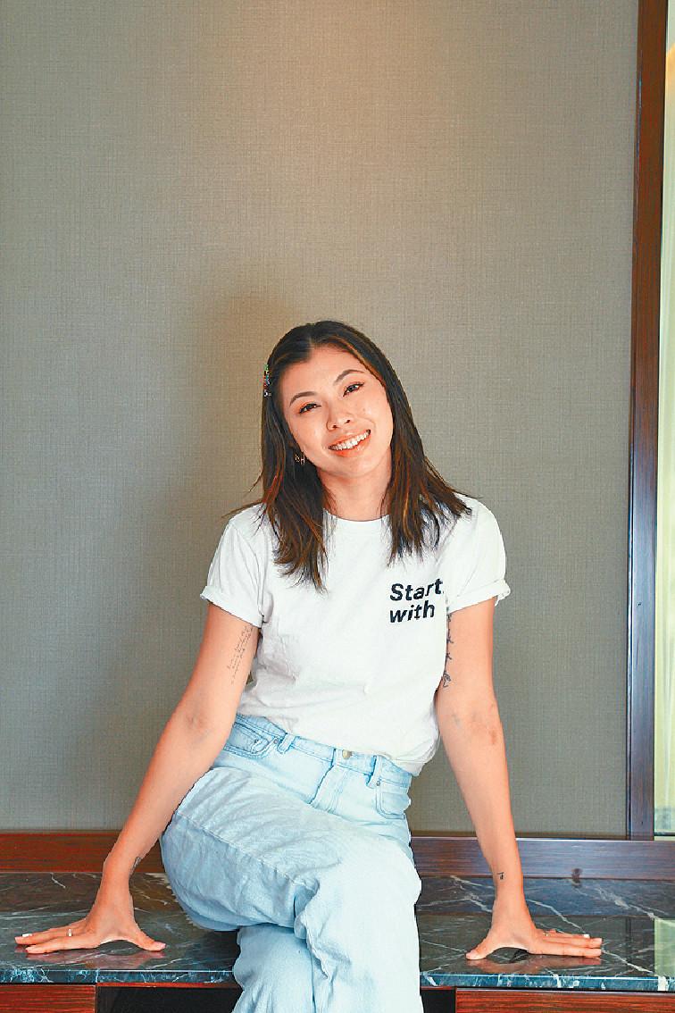 開拓市場 ■王曼喜現時積極發展自家時裝生意,嚟緊還會開拓台灣市場。