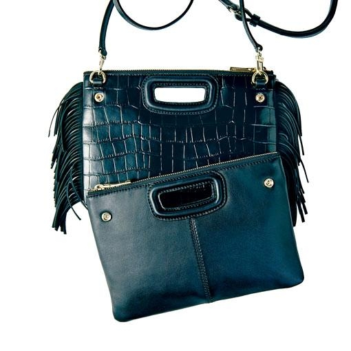 ●Maje招牌手袋換上了Double Bag的設計/$3,290,可作Cross Body Bag或Clutch Bag使用,一舉兩得。
