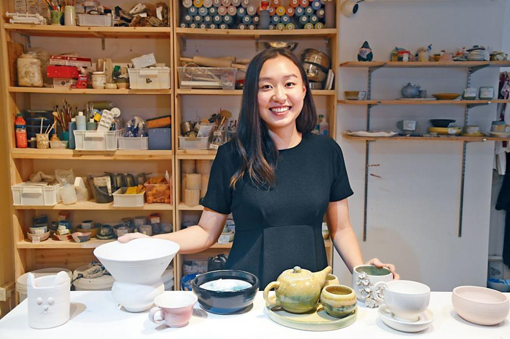 創辦人Amber銳意將陶藝進一步推廣,拓展本地市場。