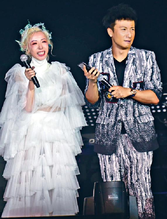 ■小方為泳兒演唱會擔任嘉賓,二人在台上妙語連珠。
