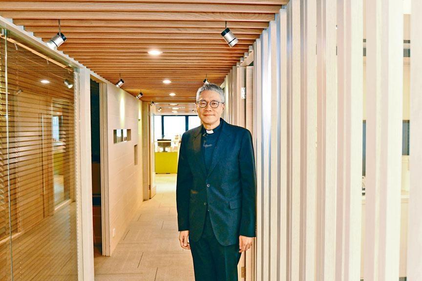 ■管浩鳴牧師昨日講述陳同佳,願意赴台自首的心路歷程。