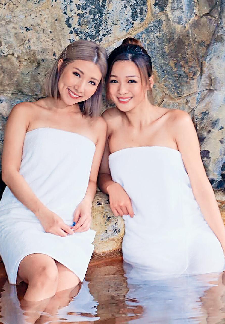 ■因為長野係溫泉之鄉,譚嘉儀及周佩婷在節目中有好多浸溫泉鏡頭。