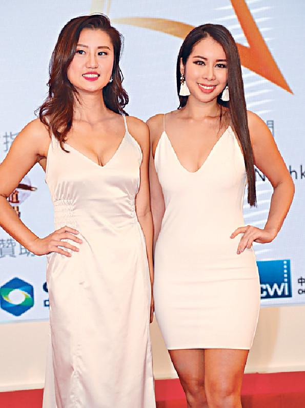 ■⑨潘立詠(左)及⑩蘇雙兒身材最為突出。