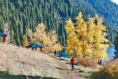 哈薩克斯坦科爾賽湖 北天山明珍