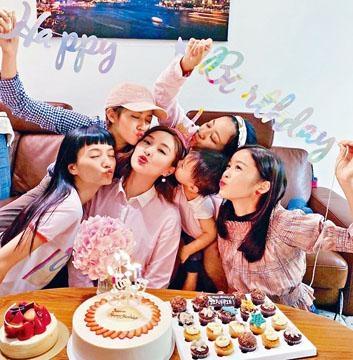 陳瀅獲陳嘉寶、賴慰玲、蔡思貝等姊妹慶祝生日。