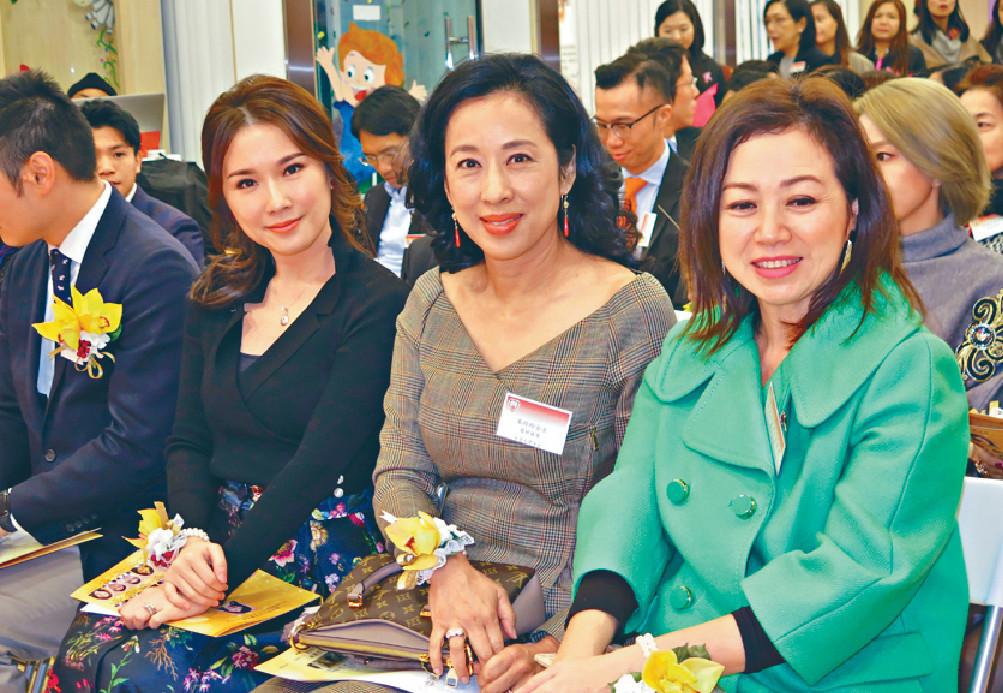 ■波波同朱玲玲及劉倩婷,一起出席慧妍雅集活動。