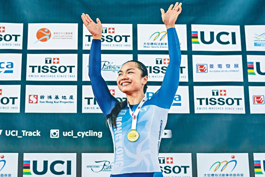 表現出色 ■有「牛下女車神」之稱的李慧詩於上屆香港站賽事表現出色,分別在女子爭先賽及女子凱林賽奪金。