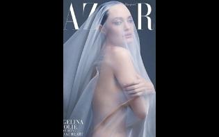 暗示畢佬阻子女移居外地 安祖蓮娜性感登雜誌封面
