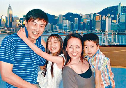 ■龔姐跟林煒婚後,一家四口有一段長時間在港定居。