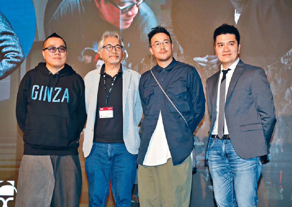 ■今年3月,彭浩翔、文樹森、曾國祥與陳詠燊出席影視博覽的導演座談會。