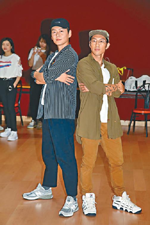 ■張振朗與麥秋成表演跳舞,前者表示壓力大。