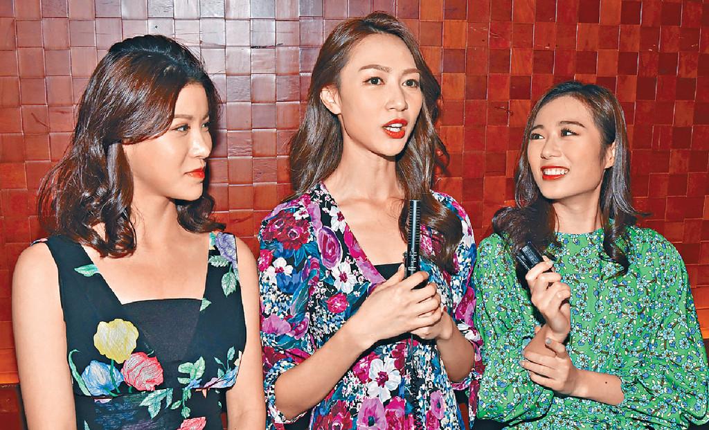 ■左起:古佩玲、黃嘉雯及王菲出席慈善晚宴。