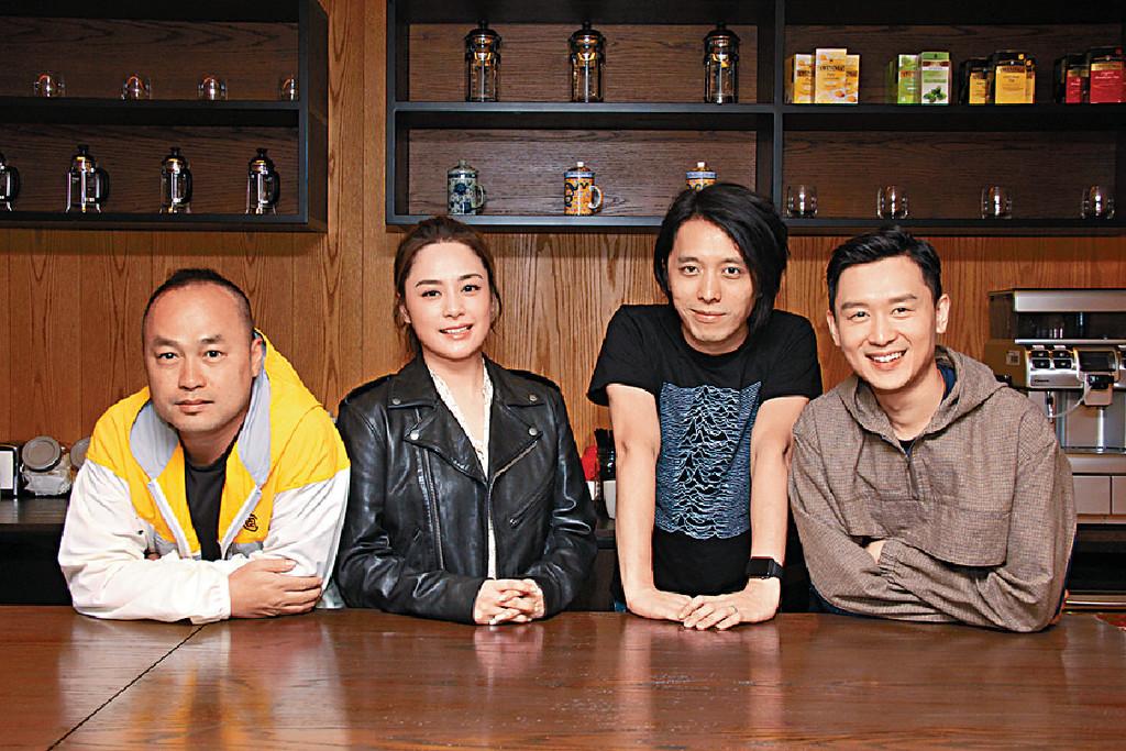 ■阿嬌和小龍因為監製伍健雄接拍,並首度跟新導演趙羅尼(右二)合作。