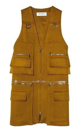 ●多拉鏈口袋設計的背心外套/$18,580/Max Mara。