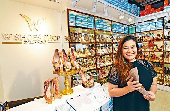 W Shoes Shop創辦人Elsa Wong傳承爺爺造鞋手藝,專售婚鞋。