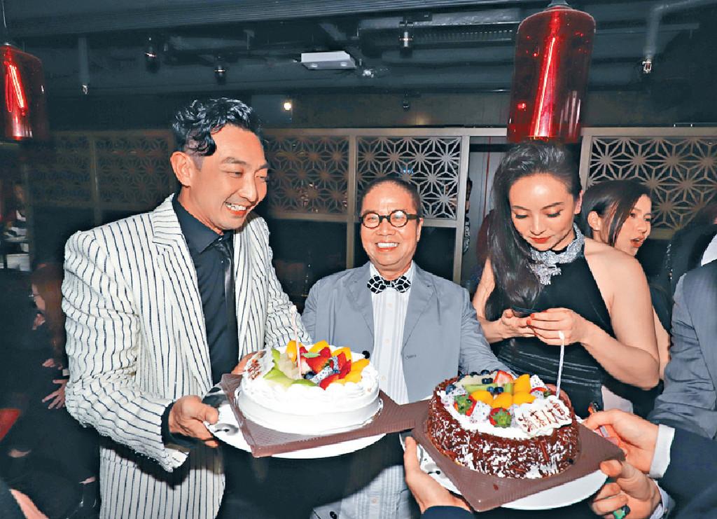 ■小美獲頒金像獎當晚,陳果和璨琛都有一同慶祝。