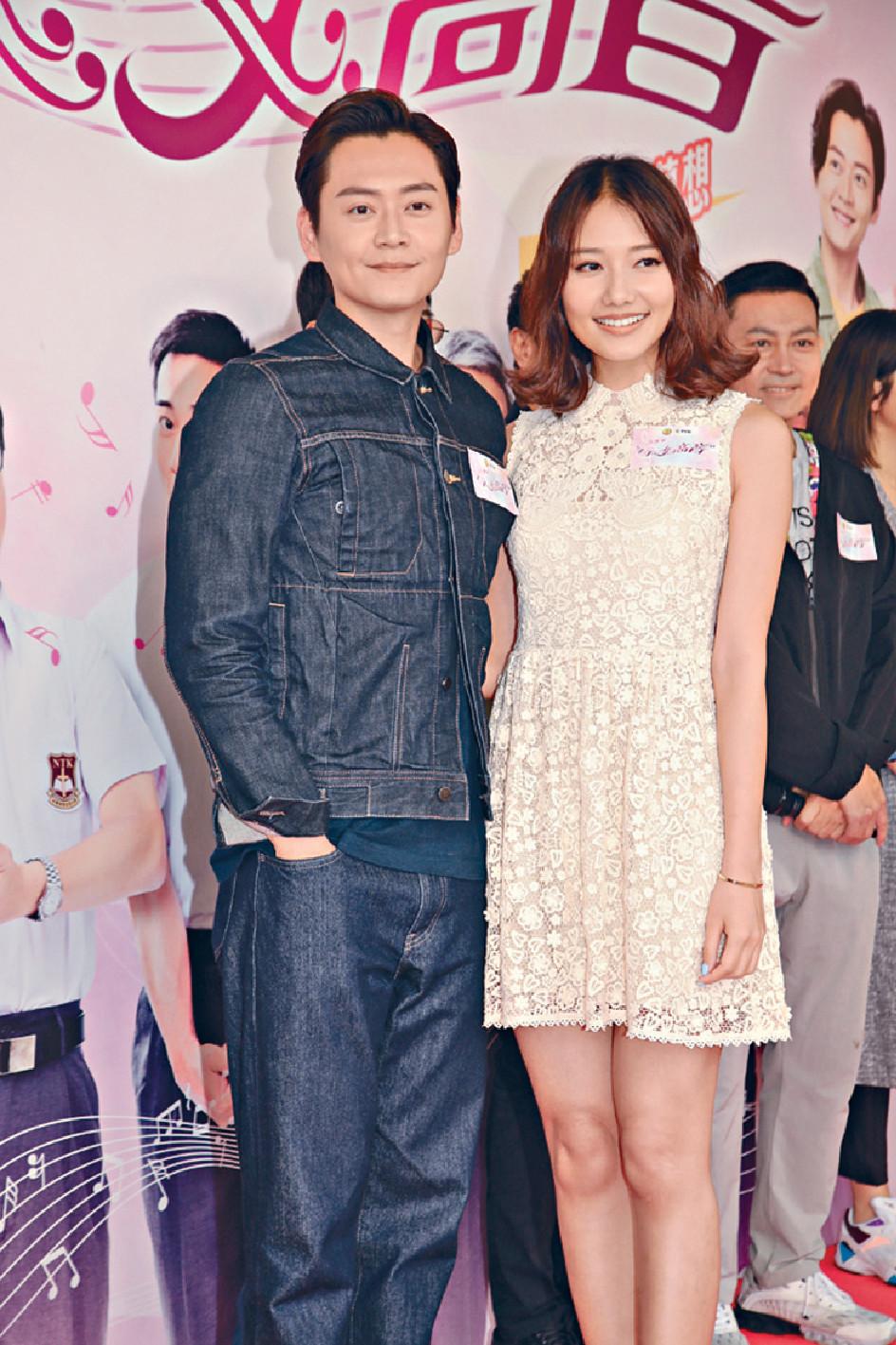 ■張振朗與劉溫馨為《牛下女高音》宣傳。