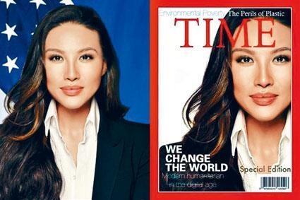 美國國務院韓裔女高官張米娜,被揭偽造《時代》雜誌封面,使自己成為「封面人物」。