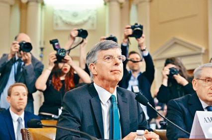 美國駐烏克蘭大使泰勒昨日在國會作供。