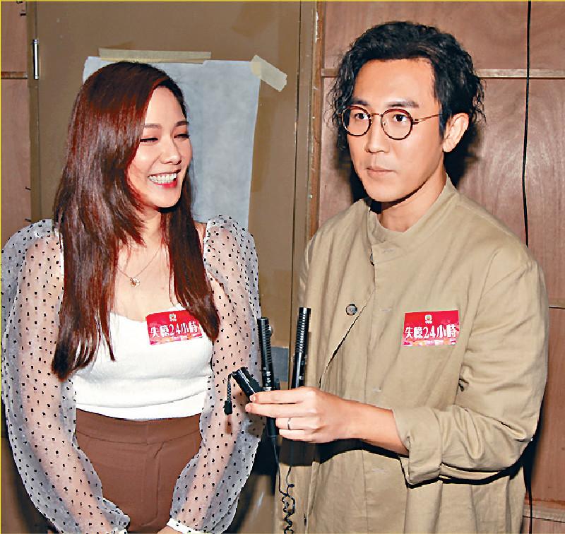 ■譚俊彥(右)笑言和靚湯有「碌牀單」戲碼!