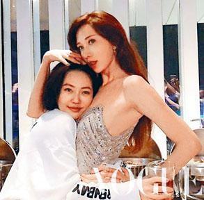 林志玲與好友小S在婚禮派對上玩到癲。