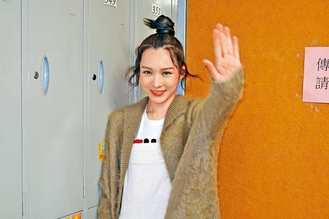 李佳芯昨日現身電視城,為台慶節目綵排。
