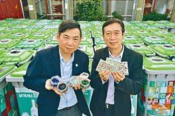 香港玻璃再生總經理馮華洪(左)表示,公司業務遭終止須裁減人手。