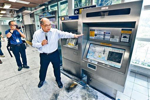 李家潤表示,大學站損毀程度極之嚴重,需要深層次復修。