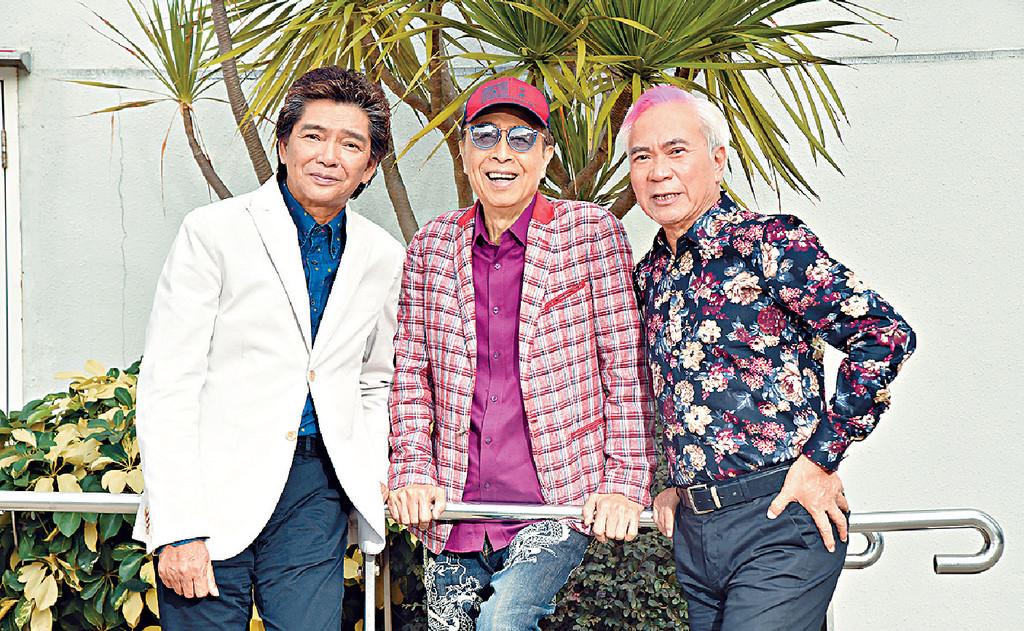 ■(右起)李龍基、葉振棠及陳浩德的《三生有幸》演唱會押後至明年舉行。