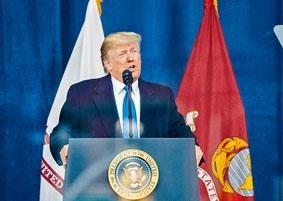 特朗普表示,與美聯儲主席鮑威爾會面時,他抗議美國息率高於其他競爭國家。