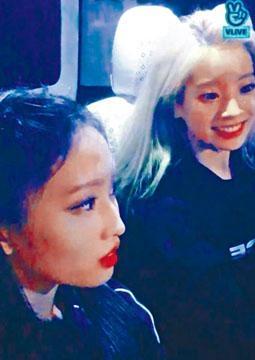 TWICE成員MOMO與多賢在車上做直播,但被fans跟蹤兼敲車窗。