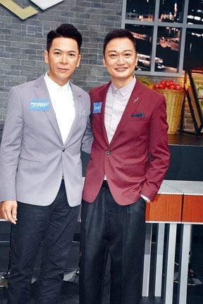 陶大宇(右)、郭政鴻節目中彈到女生眼濕濕,兩人覺得不好意思。