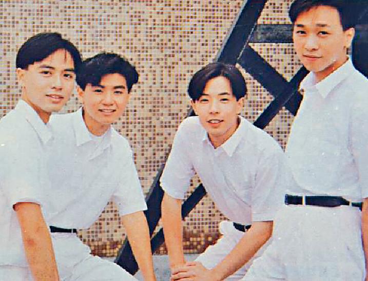 ■當年受捧時,黃翊跟黃貫中、李克勤、黃家強拍TVB偶像劇《淘氣雙子星》。