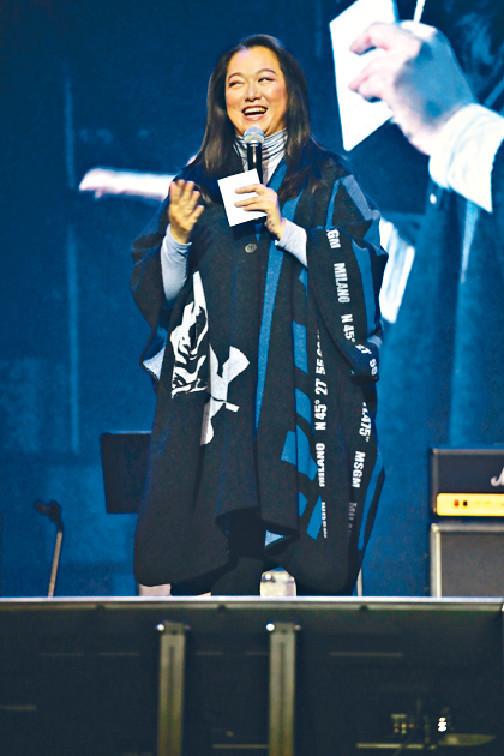 ■今年2月李珊珊到伊館出席音樂會,分享求醫經歷。資料圖片