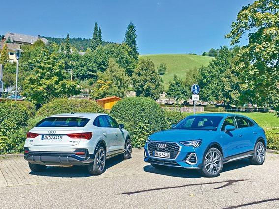 ●廠方提供兩款Q3 Sportback汽油版供試駕,包括45TFSI Quattro四驅版(左)及35TFSI前驅版(右)。