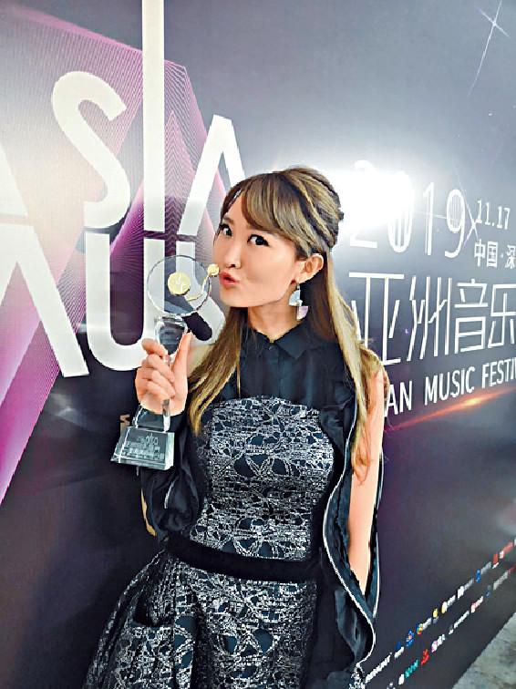 ■早前Ophelia出席《亞洲音樂盛典2019》,並獲得新人獎。