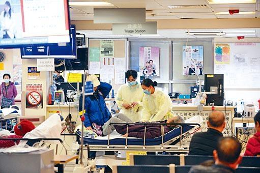 冬季流感高峰期將至,十所公立醫院內科病房佔用率出現爆滿。