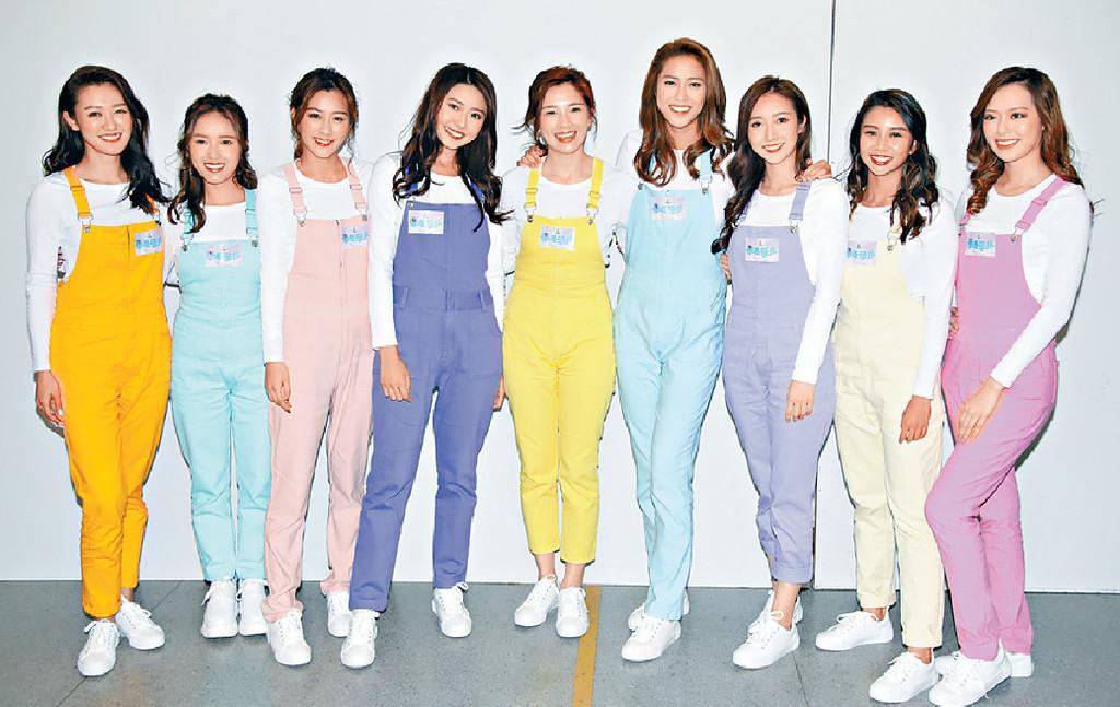 ■盈盈(右一)建議公司將成員組成「TVB48」。