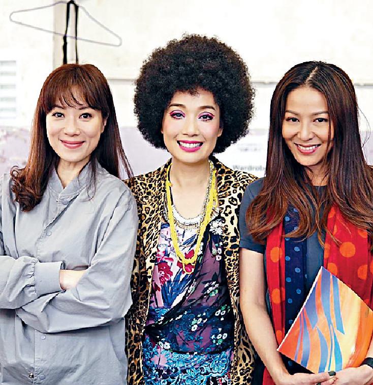 ■離開TVB後,今年美儀跟張可頤演過舞台劇《但願人長久》,老友滕麗名嚟探班。