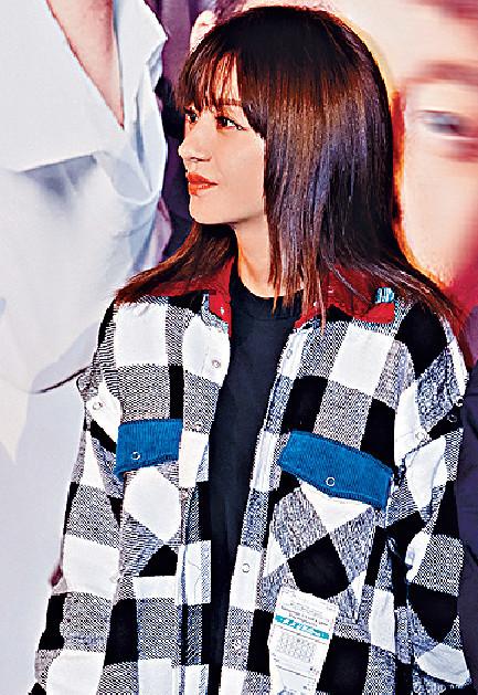 ■趙薇上月底出席新片宣傳活動。