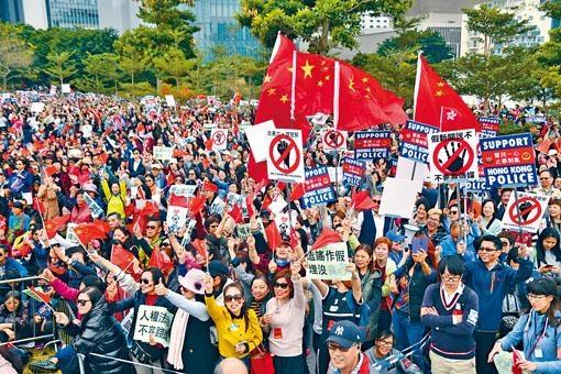 ■民間昨發起「控訴暴力集會」,望為多月來遭黑衣示威者攻擊的市民發聲。
