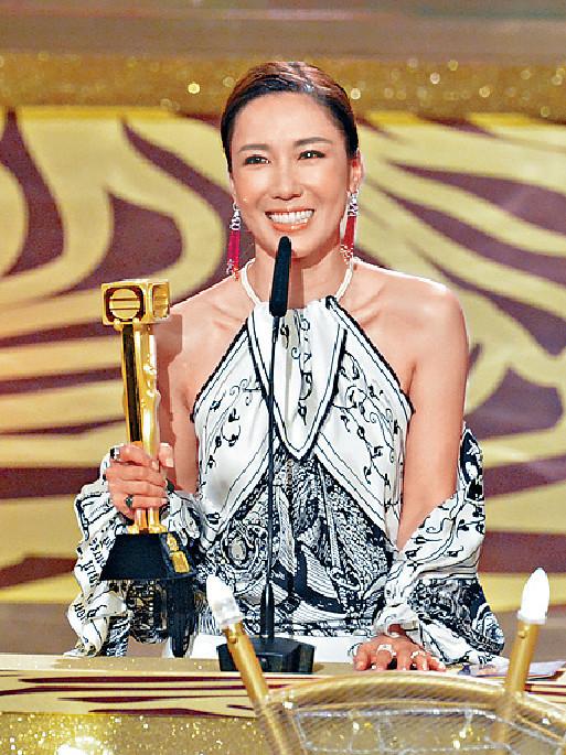 ■李施嬅日前在無線台慶頒獎禮奪得兩獎。 資料圖片